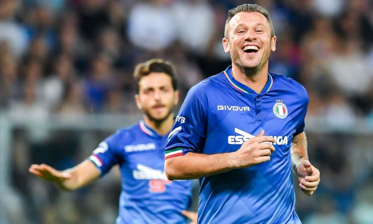Antonio Cassano in campo
