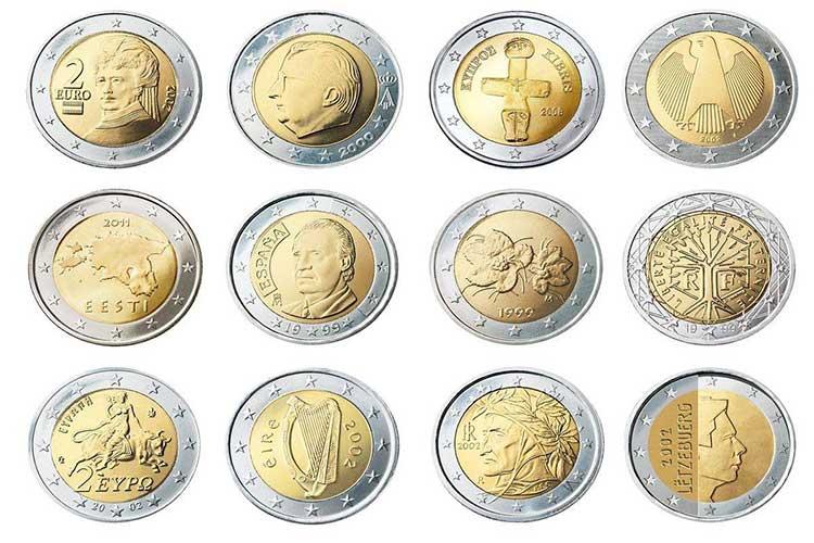 lista monete da 2 euro