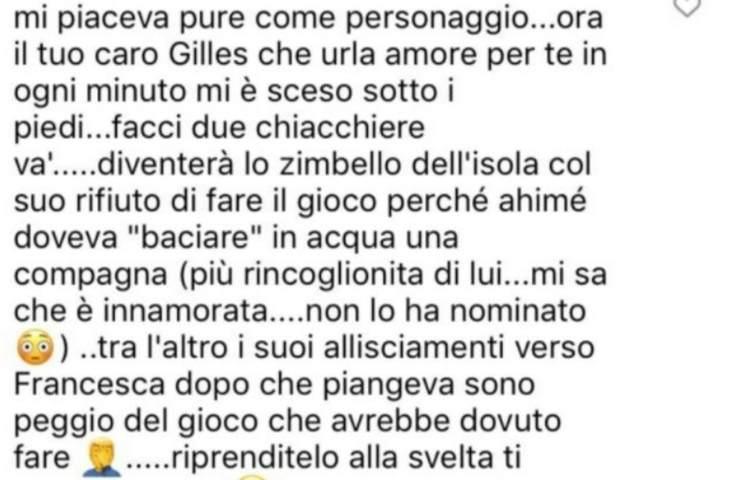 Gilles Rocca fidanzata Miriam risposta haters