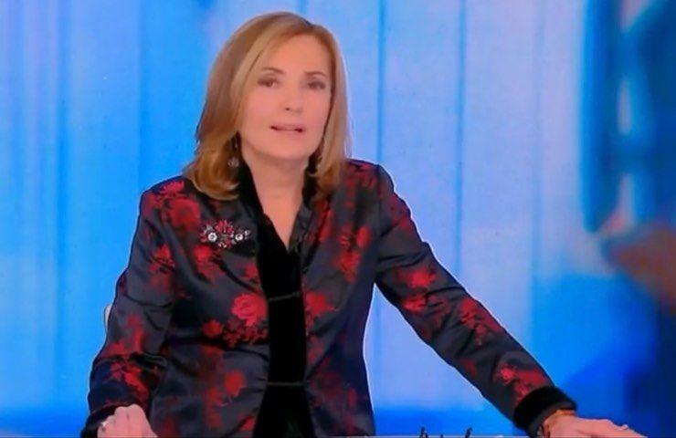 Barbara Palombelli diretta episodio piangere lacrime