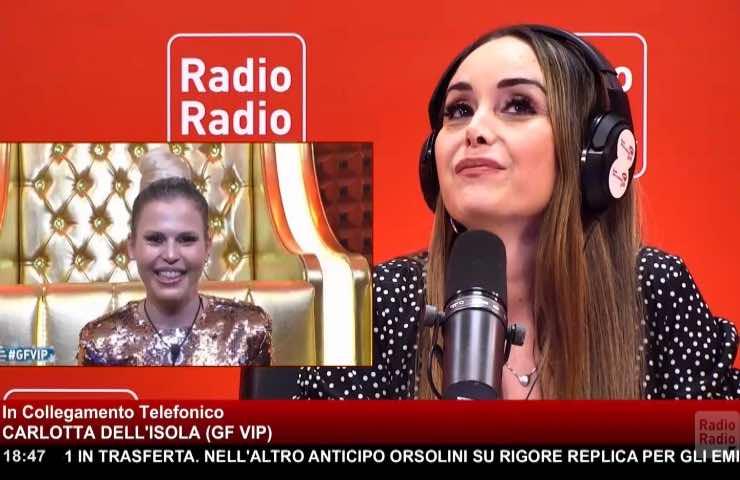 GF Vip Carlotta Dell'Isola sogno