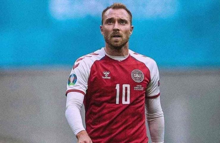 Christian Eriksen con la Danimarca