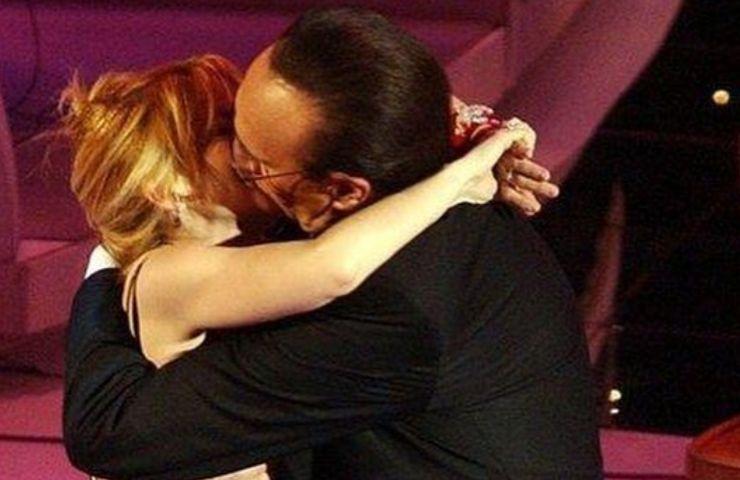 Pippo Baudo e il bacio a Sharon Stone