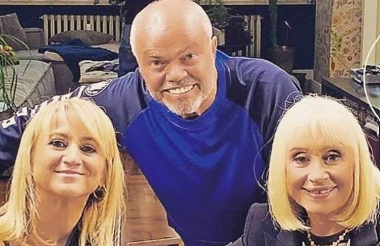 Raffaella Carrà con Sergio Japino e Luciana Littizzetto (Instagram)