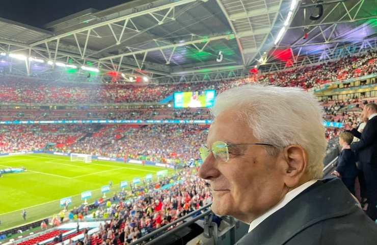 Sergio Mattarella a Wembley