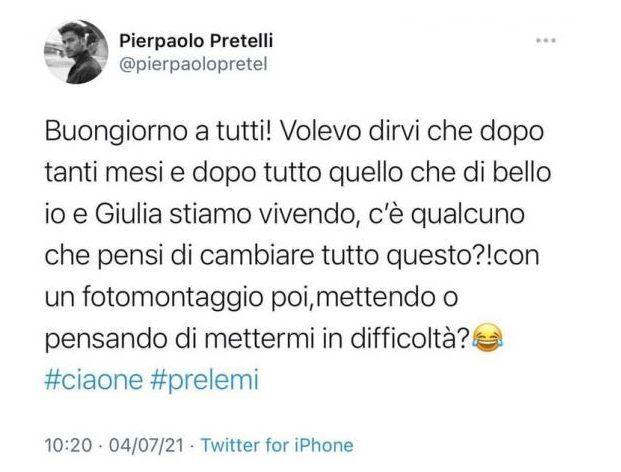 Pierpaolo Petrelli senza freni dopo l'annuncio social: c'entrano il padre e la Gregoraci
