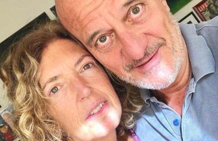 Claudio Bisio e Sandra Bonzi
