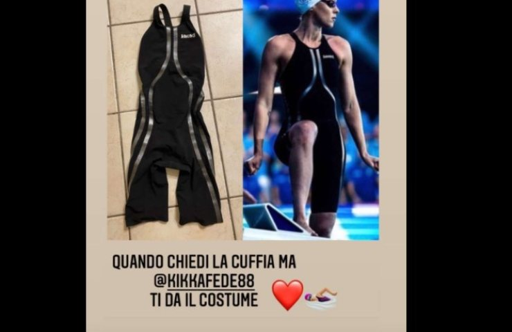 Federica Pellegrini screenshot (Storie Instagram)